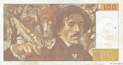 100 Francs DELACROIX modifié FRANCE  1989 F.69.13d TTB