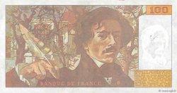 100 Francs DELACROIX imprimé en continu FRANCE  1990 F.69bis.01a TTB