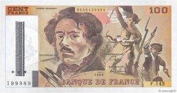 100 Francs DELACROIX imprimé en continu FRANCE  1990 F.69bis.01b6 pr.NEUF