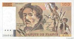 100 Francs DELACROIX imprimé en continu FRANCE  1991 F.69bis.03a3 SUP+
