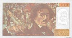 100 Francs DELACROIX imprimé en continu FRANCE  1991 F.69bis.04b SUP