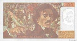 100 Francs DELACROIX imprimé en continu FRANCE  1991 F.69bis.04c SUP