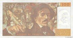 100 Francs DELACROIX imprimé en continu FRANCE  1993 F.69bis.05 TTB