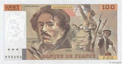100 Francs DELACROIX imprimé en continu FRANCE  1993 F.69bis.05 SPL