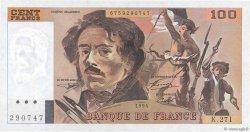 100 Francs DELACROIX 442-1 & 442-2 FRANCE  1994 F.69ter.01a SPL
