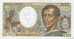 200 Francs MONTESQUIEU FRANCE  1981 F.70.01 TTB+