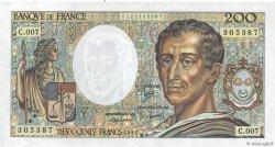 200 Francs MONTESQUIEU FRANCE  1981 F.70.01