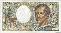 200 Francs MONTESQUIEU FRANCE  1983 F.70.03 TB+