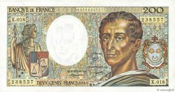 200 Francs MONTESQUIEU FRANCE  1983 F.70.03 SUP