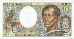 200 Francs MONTESQUIEU FRANCE  1984 F.70.04 pr.SPL