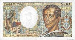 200 Francs MONTESQUIEU FRANCE  1988 F.70.08 TTB+