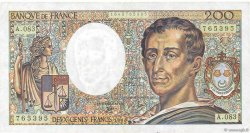 200 Francs MONTESQUIEU FRANCE  1990 F.70.10a TTB+
