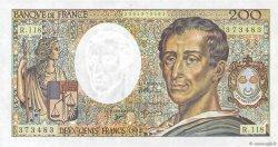 200 Francs MONTESQUIEU FRANCE  1992 F.70.12b SUP