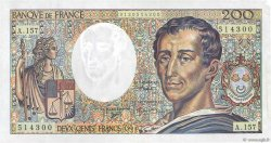 200 Francs MONTESQUIEU Modifié FRANCE  1994 F.70/2.01 SUP