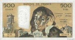 500 Francs PASCAL FRANCE  1973 F.71.09 TTB