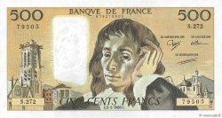 500 Francs PASCAL FRANCE  1988 F.71.38 SUP