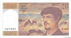 20 Francs DEBUSSY FRANCE  1980 F.66.01 pr.SUP
