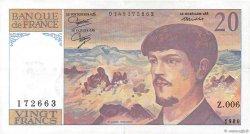 20 Francs DEBUSSY FRANCE  1980 F.66.01 SUP
