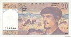 20 Francs DEBUSSY FRANCE  1983 F.66.04 TTB