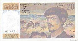 20 Francs DEBUSSY FRANCE  1989 F.66.10 SPL