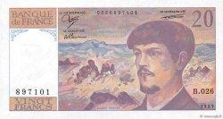 20 Francs DEBUSSY FRANCE  1989 F.66.10b pr.NEUF