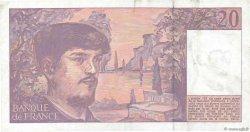 20 Francs DEBUSSY à fil de sécurité FRANCE  1993 F.66bis.04 TTB+