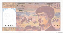 20 Francs DEBUSSY Modifié FRANCE  1997 F.66ter.02 SUP