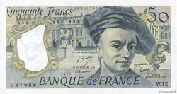 50 Francs QUENTIN DE LA TOUR FRANCE  1978 F.67.03 SUP