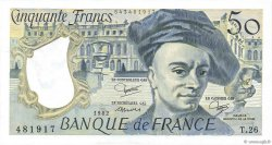 50 Francs QUENTIN DE LA TOUR FRANCE  1982 F.67.08 SPL+