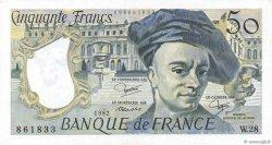50 Francs QUENTIN DE LA TOUR FRANCE  1982 F.67.08 pr.NEUF