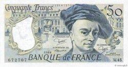 50 Francs QUENTIN DE LA TOUR FRANCE  1986 F.67.12 NEUF