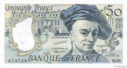 50 Francs QUENTIN DE LA TOUR FRANCE  1987 F.67.13 SUP+