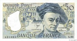 50 Francs QUENTIN DE LA TOUR FRANCE  1988 F.67.14 SUP+