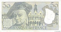 50 Francs QUENTIN DE LA TOUR FRANCE  1988 F.67.14 TTB