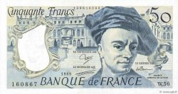 50 Francs QUENTIN DE LA TOUR FRANCE  1989 F.67.15 SUP à SPL
