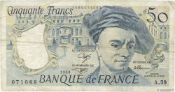 50 Francs QUENTIN DE LA TOUR FRANCE  1990 F.67.16 TB