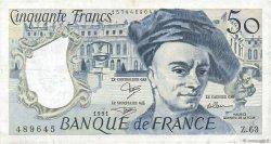 50 Francs QUENTIN DE LA TOUR FRANCE  1991 F.67.17 TTB