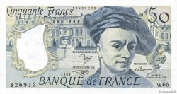 50 Francs QUENTIN DE LA TOUR FRANCE  1991 F.67.17