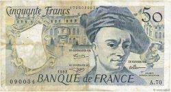 50 Francs QUENTIN DE LA TOUR FRANCE  1992 F.67.18 TB