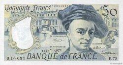 50 Francs QUENTIN DE LA TOUR FRANCE  1992 F.67.18 SPL+