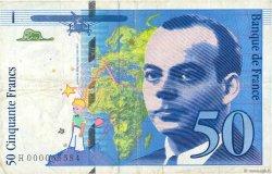 50 Francs SAINT-EXUPÉRY FRANCE  1992 F.72.01a TB