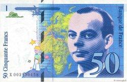 50 Francs SAINT-EXUPÉRY FRANCE  1992 F.72.01b SUP