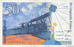 50 Francs SAINT-EXUPÉRY FRANCE  1992 F.72.01b TTB