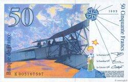 50 Francs SAINT-EXUPÉRY FRANCE  1993 F.72.02 SPL
