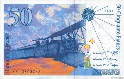 50 Francs SAINT-EXUPÉRY Modifié FRANCE  1994 F.73.01a pr.NEUF