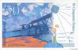 50 Francs SAINT-EXUPÉRY Modifié FRANCE  1996 F.73.02 pr.NEUF