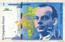 50 Francs SAINT-EXUPÉRY Modifié FRANCE  1996 F.73.02 TTB