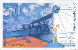 50 Francs SAINT-EXUPÉRY Modifié FRANCE  1996 F.73.03 SUP