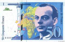 50 Francs SAINT-EXUPÉRY Modifié FRANCE  1997 F.73.04 pr.NEUF