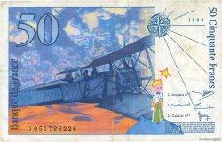 50 Francs SAINT-EXUPÉRY Modifié FRANCE  1999 F.73.05 TTB